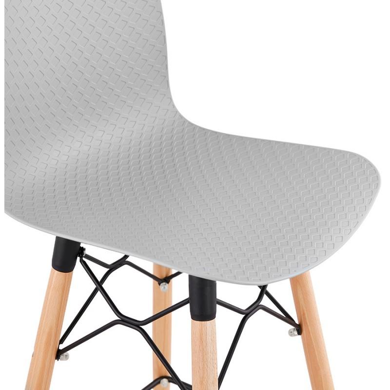 Sgabello barra di design scandinavo FAIRY (grigio chiaro) - image 46695