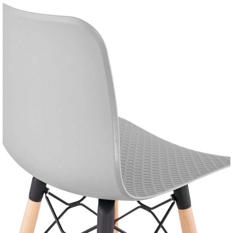 FAIRY Scandinavian design bar stool (light grey) - image 46698