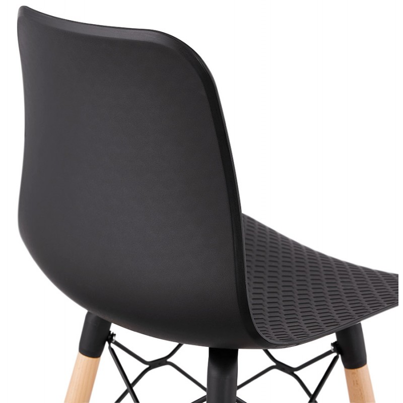 Tabouret de bar design scandinave FAIRY (noir) - image 46713