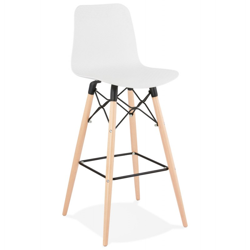 FAIRY Scandinavian design bar stool (White)