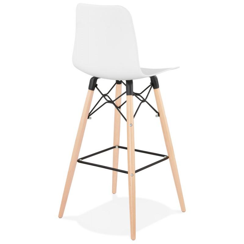 FAIRY Scandinavian design bar stool (White) - image 46737