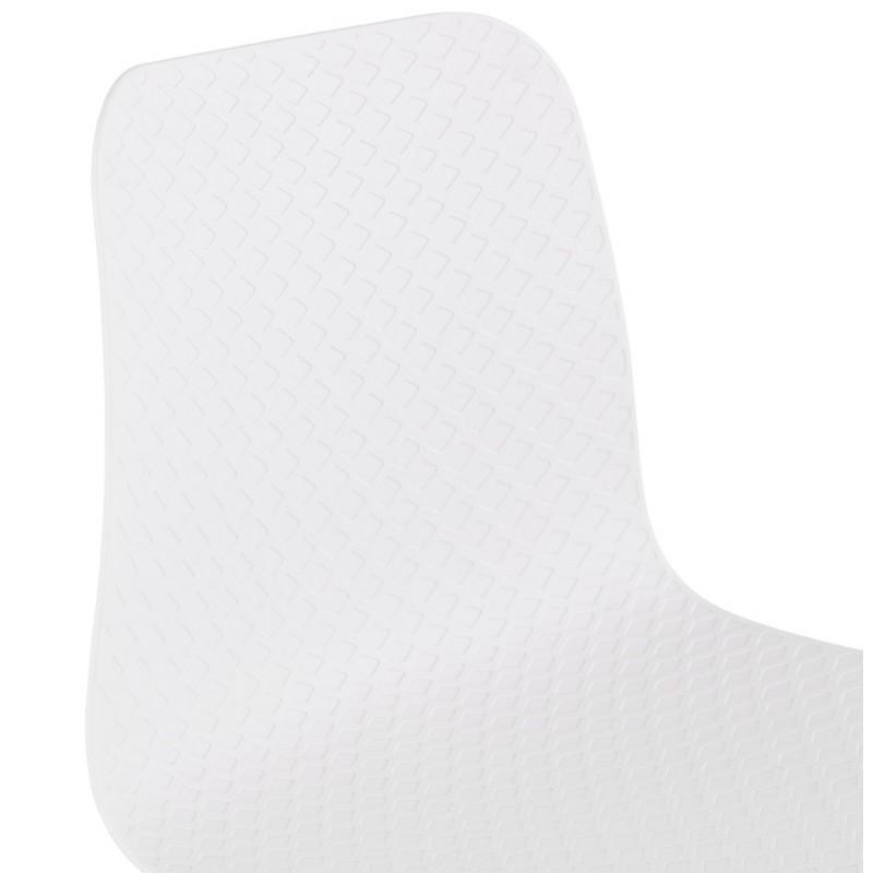 Tabouret de bar design scandinave FAIRY (blanc) - image 46739