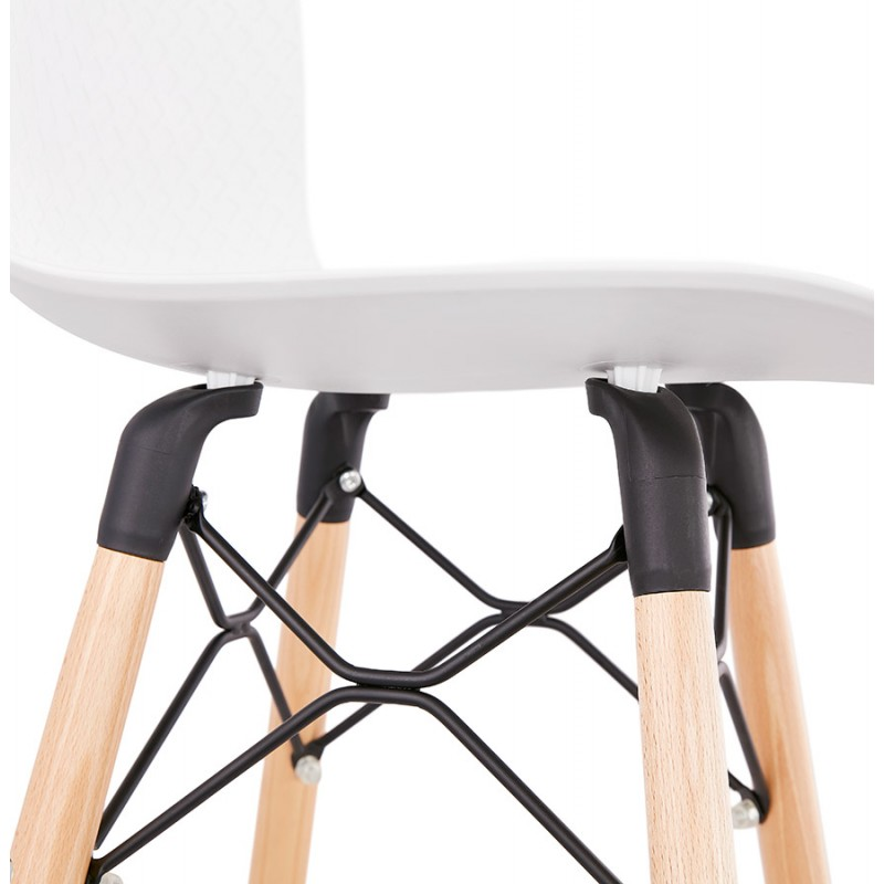 Tabouret de bar design scandinave FAIRY (blanc) - image 46742