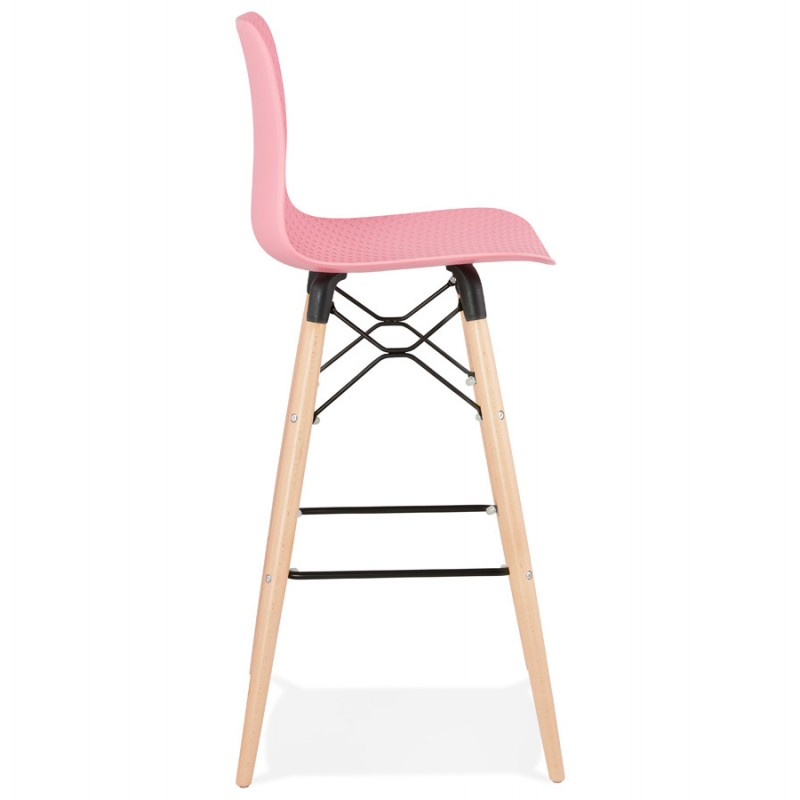 Tabouret de bar design scandinave FAIRY (rose) - image 46751