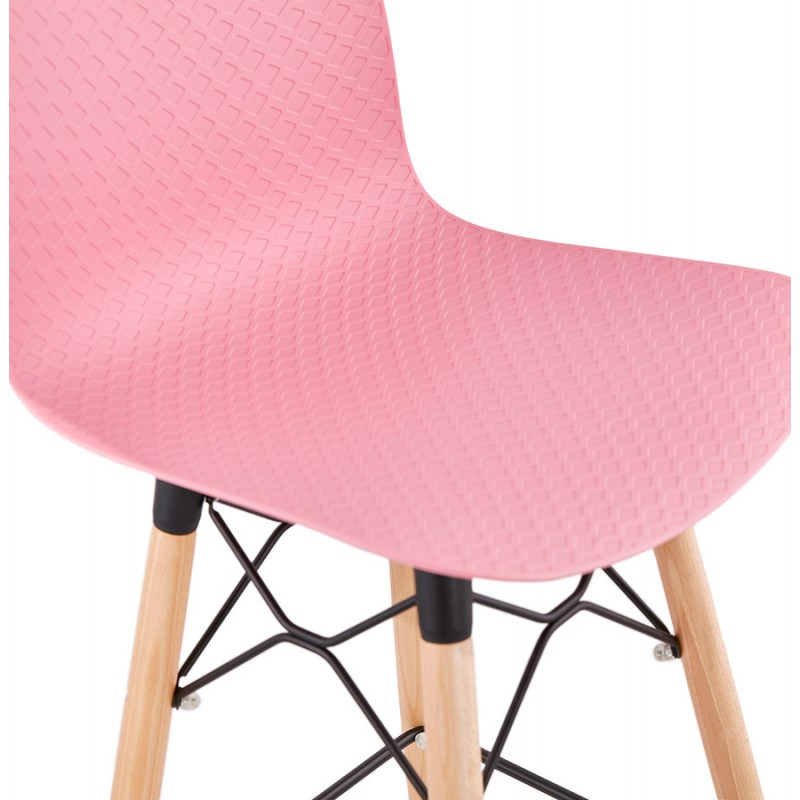 FAIRY Scandinavian design bar stool (pink) - image 46755