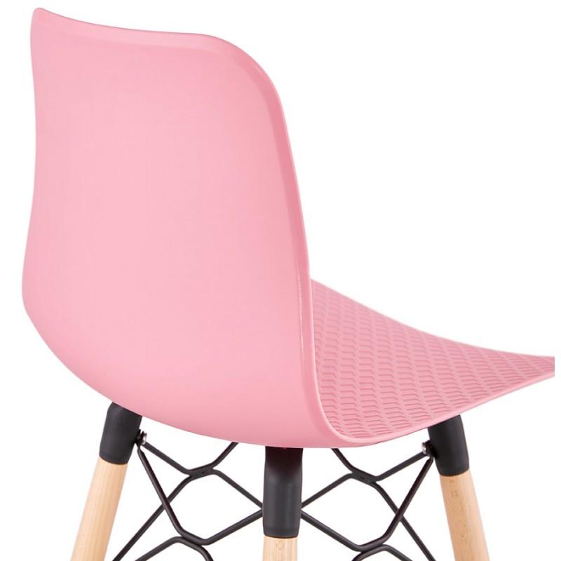 FAIRY Scandinavian design bar stool (pink) - image 46758