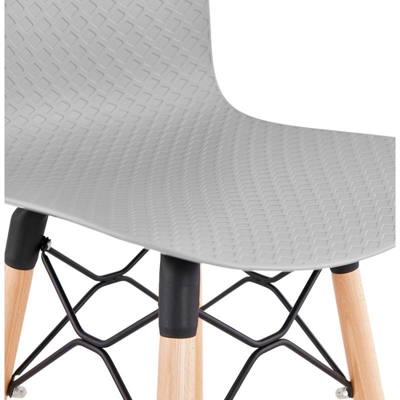 Tabouret de bar mi-hauteur scandinave FAIRY MINI (gris clair) - image 46771