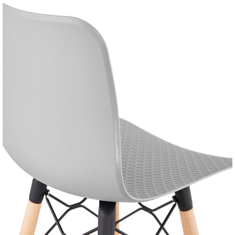 Tabouret de bar mi-hauteur scandinave FAIRY MINI (gris clair) - image 46773