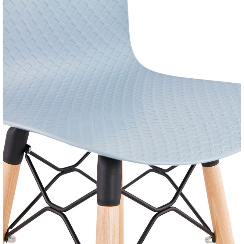 Tabouret de bar mi-hauteur scandinave FAIRY MINI (bleu clair) - image 46801