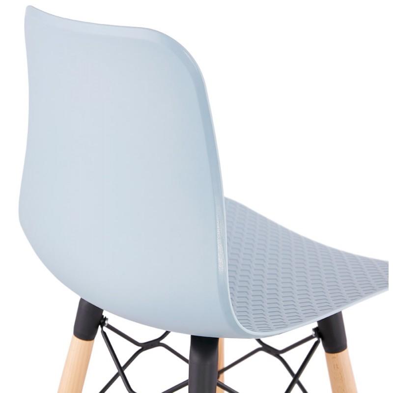 Tabouret de bar mi-hauteur scandinave FAIRY MINI (bleu clair) - image 46803