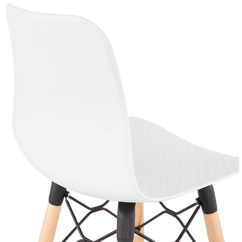 Tabouret de bar mi-hauteur scandinave FAIRY MINI (blanc) - image 46818