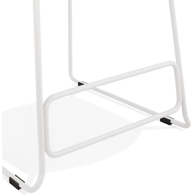 Small-height bar stool in white metal foot fabric CUTIE MINI (anthracite grey) - image 46848
