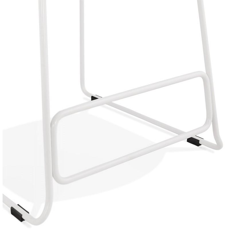 Tabouret de bar mi-hauteur en tissu pieds métal blanc CUTIE MINI (gris anthracite) - image 46848