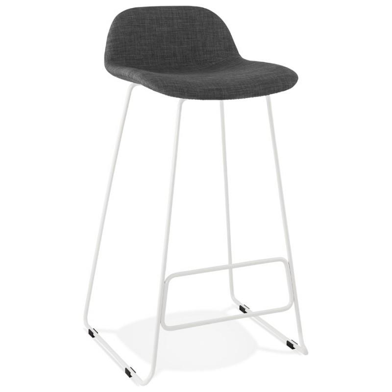 Tabouret de bar chaise de bar en tissu pieds métal blanc CUTIE (gris anthracite) - image 46851