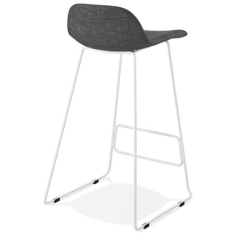 Tabouret de bar chaise de bar en tissu pieds métal blanc CUTIE (gris anthracite) - image 46854