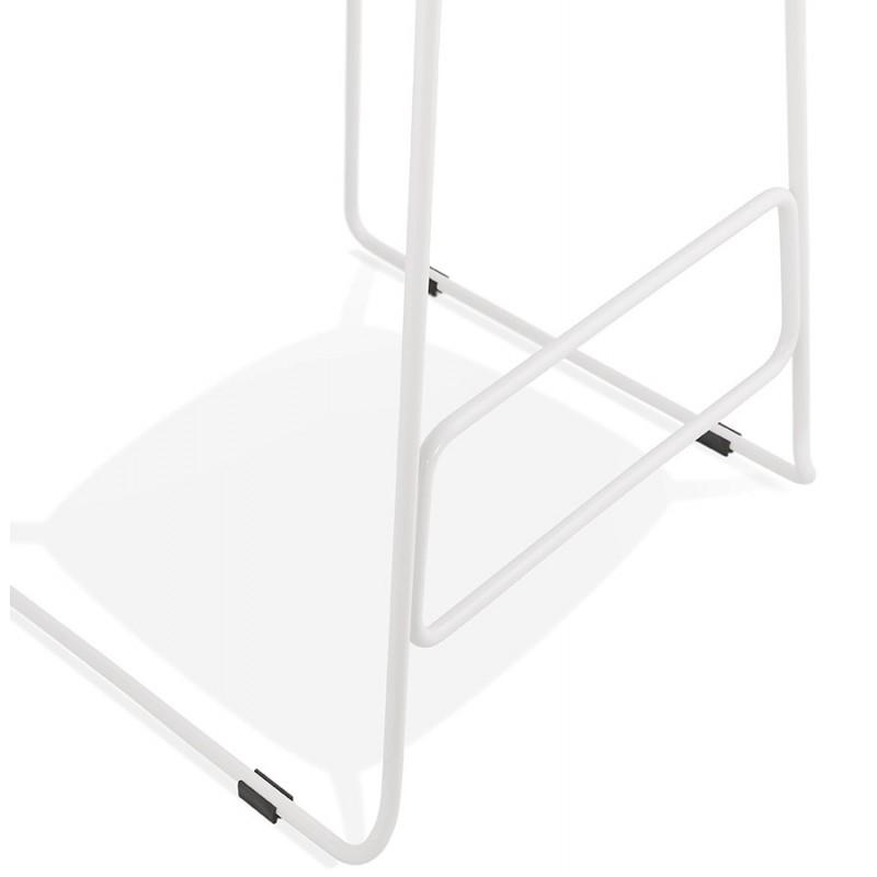 Tabouret de bar chaise de bar en tissu pieds métal blanc CUTIE (gris anthracite) - image 46860