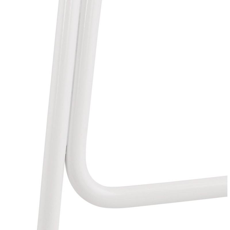 Tabouret de bar chaise de bar en tissu pieds métal blanc CUTIE (gris anthracite) - image 46861