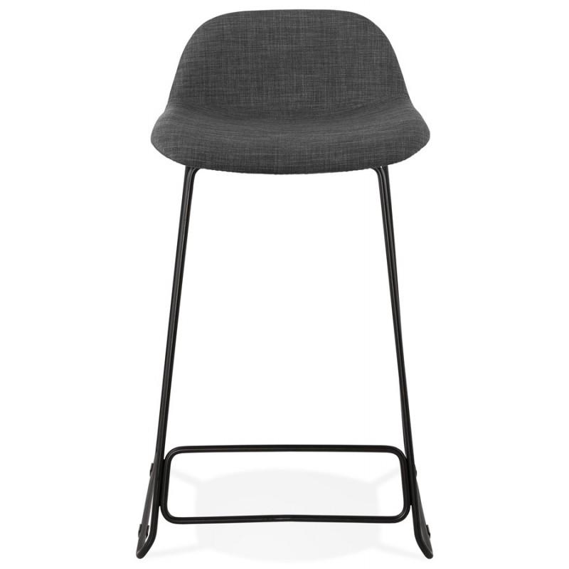 Tabouret de bar mi-hauteur industriel en tissu pieds métal noir CUTIE MINI (gris anthracite) - image 46864