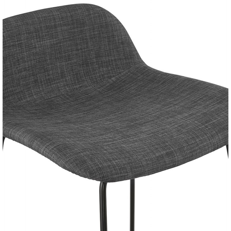 Tabouret de bar mi-hauteur industriel en tissu pieds métal noir CUTIE MINI (gris anthracite) - image 46868