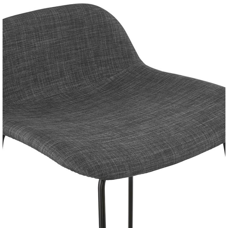 Taburete industrial de barra de altura media en tejido de pie de metal negro CUTIE MINI (gris antracita) - image 46868
