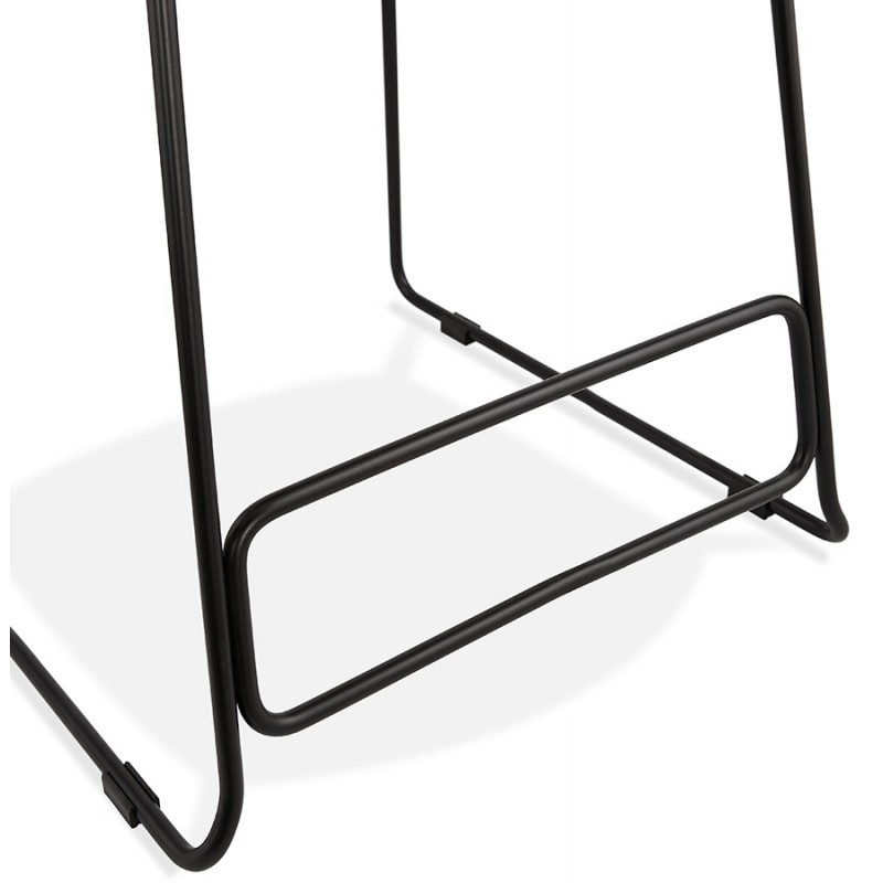 Industrial mid-height bar bar stool in black metal foot fabric CUTIE MINI (anthracite grey) - image 46872