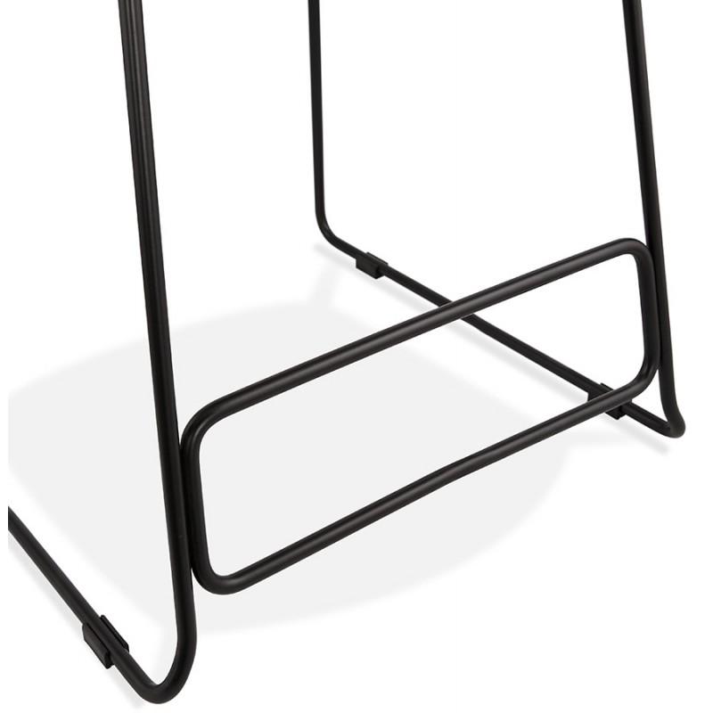 Tabouret de bar mi-hauteur industriel en tissu pieds métal noir CUTIE MINI (gris anthracite) - image 46872