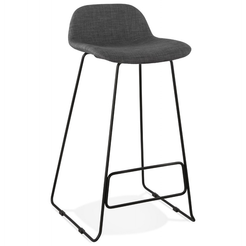 Industrial bar chair bar stool in black metal legs CUTIE (anthracite gray) - image 46874