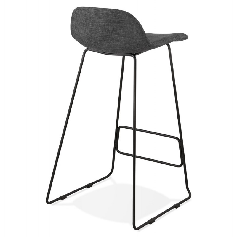 Industrial bar chair bar stool in black metal legs CUTIE (anthracite gray) - image 46877