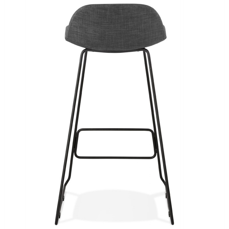 Industrial bar chair bar stool in black metal legs CUTIE (anthracite gray) - image 46878