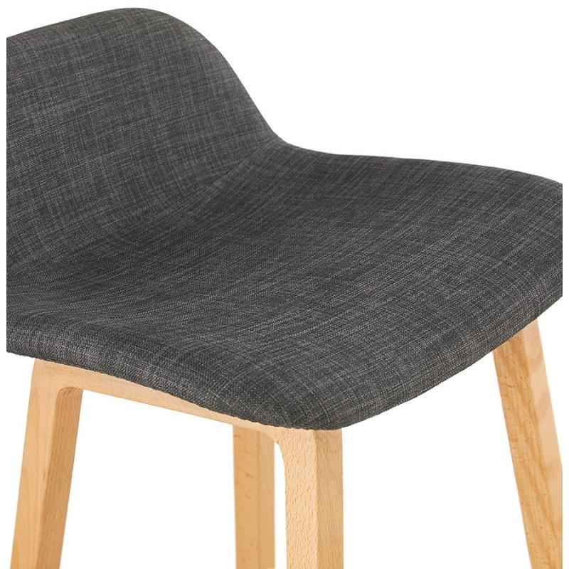 Pad bar scandinavo a media altezza in tessuto per piedi di colore naturale MELODY MINI (grigio antracite) - image 46904