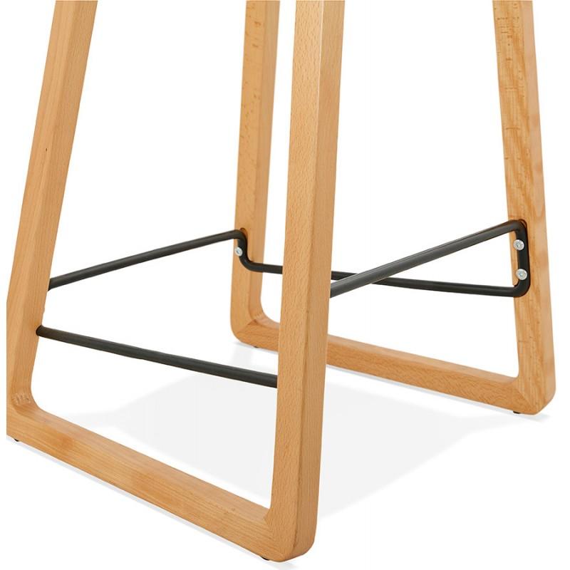 Pad bar scandinavo a media altezza in tessuto per piedi di colore naturale MELODY MINI (grigio antracite) - image 46908
