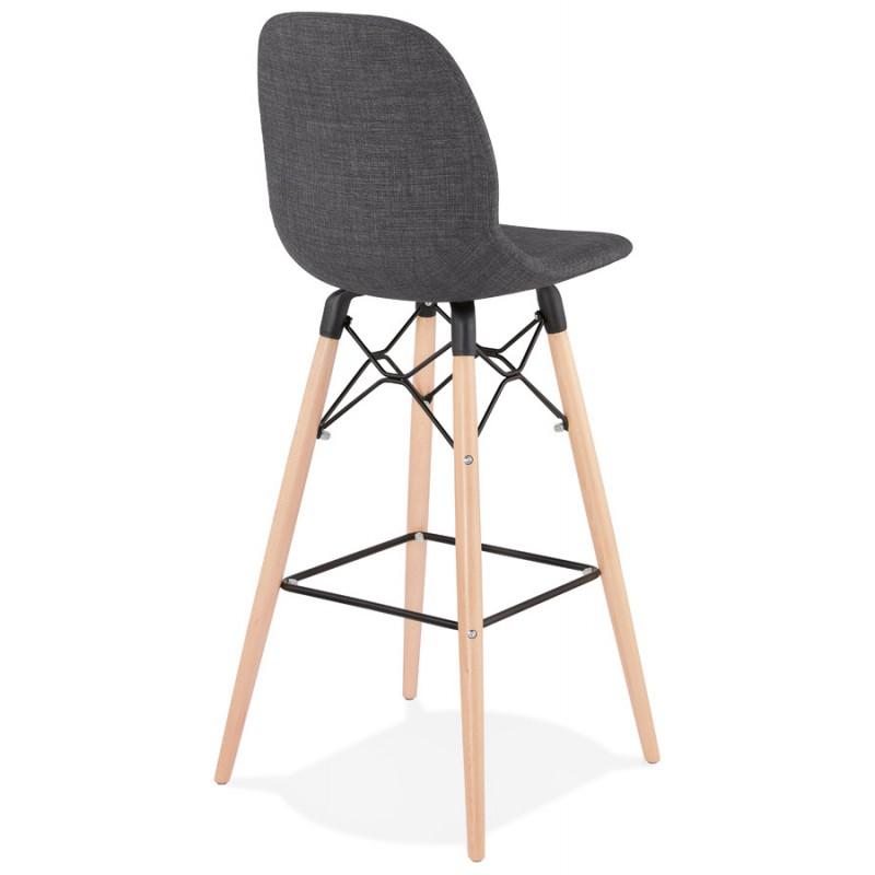 Skandinavische Design Bar Tabouret aus PAOLO Stoff (dunkelgrau) - image 46915