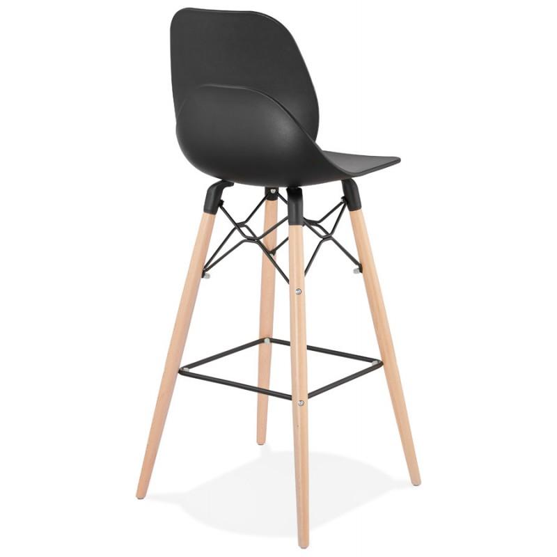 PACO Scandinavian design bar stool (black) - image 46930