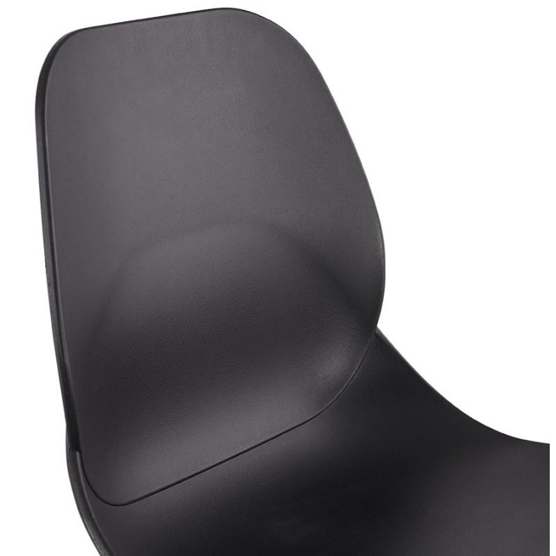 Taburete de barra de diseño escandinavo PACO (negro) - image 46932