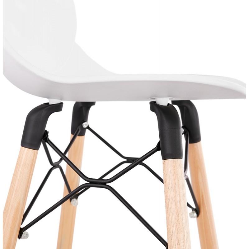 Tabouret de bar design scandinave PACO (blanc) - image 46951