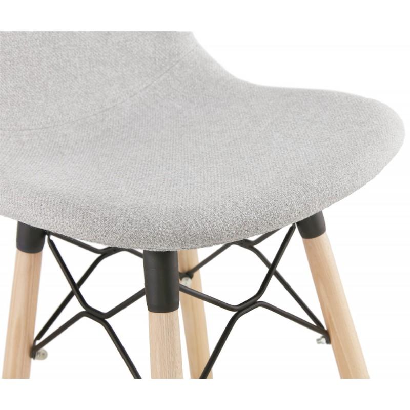 Tabouret de bar chaise de bar mi-hauteur scandinave en tissu PAOLO MINI (gris clair) - image 46966