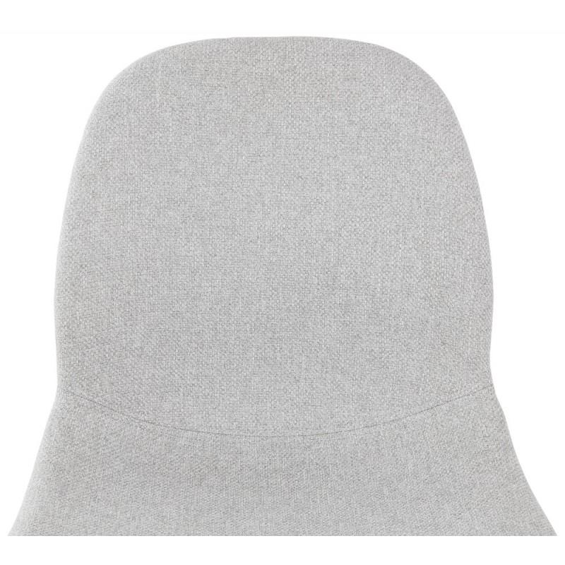 Tabouret de bar chaise de bar mi-hauteur scandinave en tissu PAOLO MINI (gris clair) - image 46968