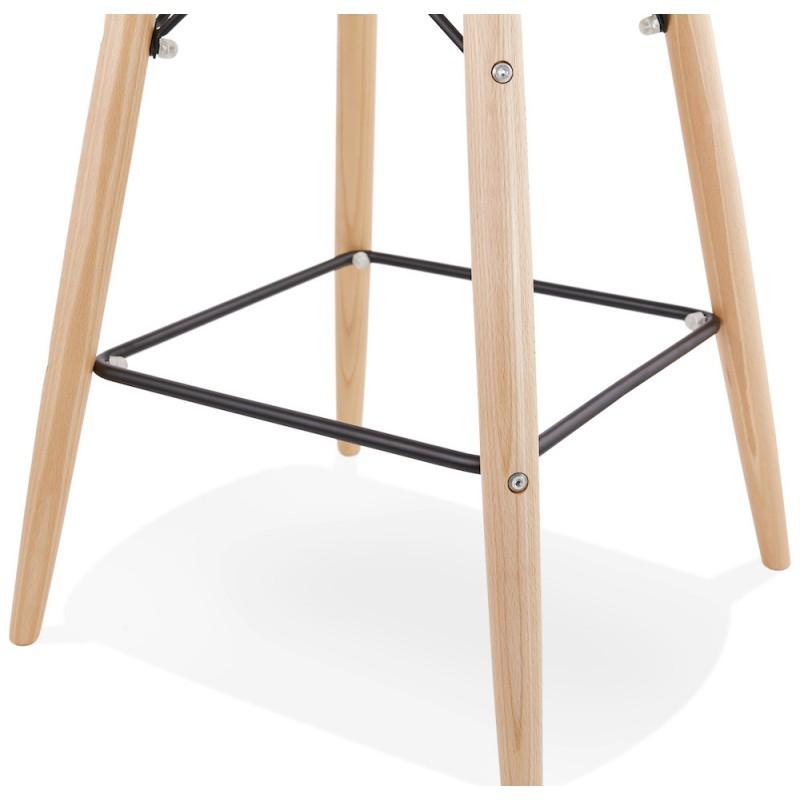 Tabouret de bar chaise de bar mi-hauteur scandinave en tissu PAOLO MINI (gris clair) - image 46973
