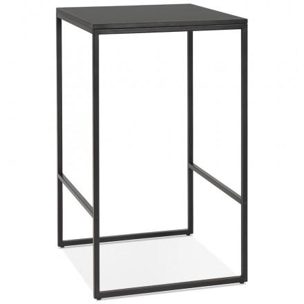 Hoher Tisch isst stehendes Design aus schwarzem Holzmetall HUGO