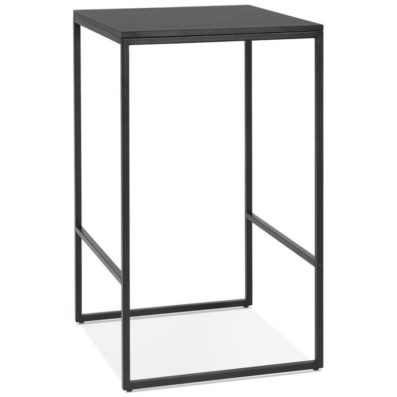 Table haute mange-debout design en bois pieds métal noir HUGO - image 47005