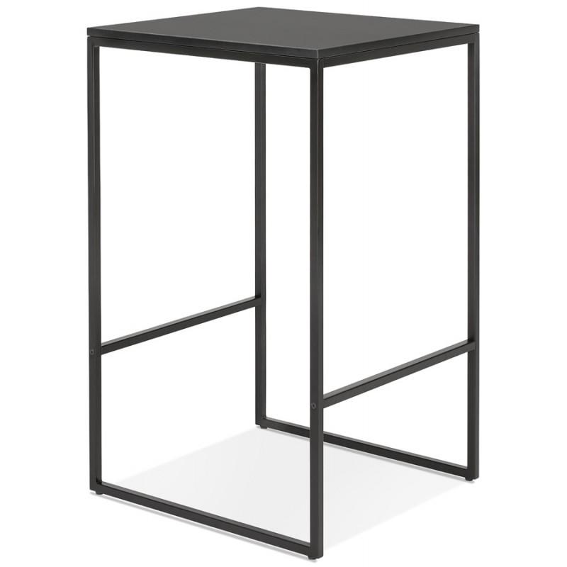 Table haute mange-debout design en bois pieds métal noir HUGO - image 47007