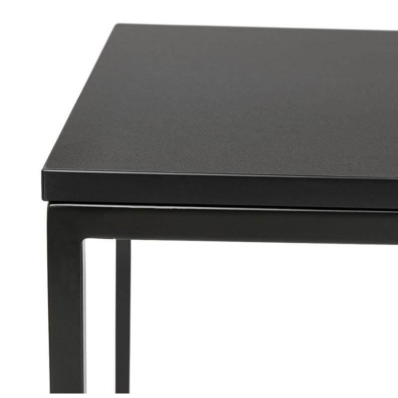 Table haute mange-debout design en bois pieds métal noir HUGO - image 47009