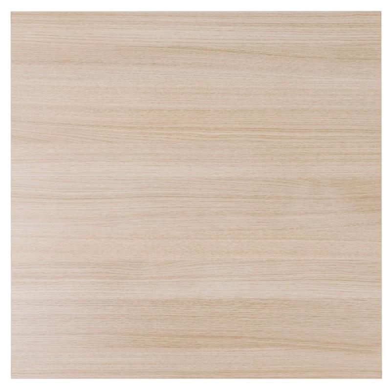 Table haute mange-debout design en bois pieds métal noir LUCAS (finition naturelle) - image 47017
