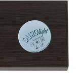 Table haute mange-debout design en bois pieds métal noir LUCAS (wengé)