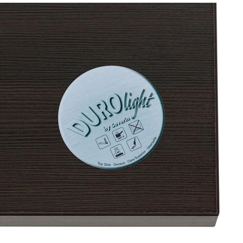 Table haute mange-debout design en bois pieds métal noir LUCAS (wengé) - image 47029
