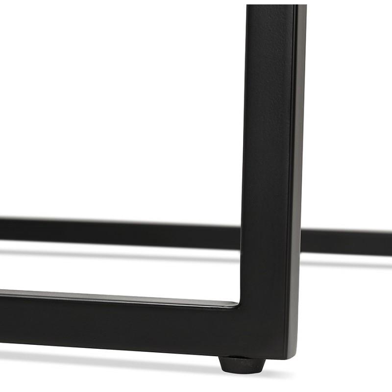 Table haute mange-debout design en bois pieds métal noir LUCAS (wengé) - image 47034