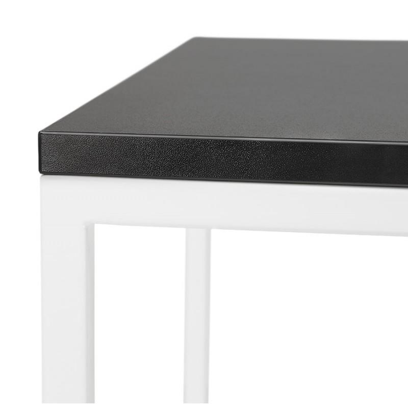 Table haute mange-debout design en bois pieds métal blanc HUGO (noir) - image 47049
