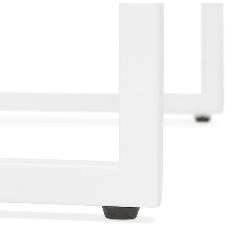Table haute mange-debout design en bois pieds métal blanc HUGO (noir) - image 47053