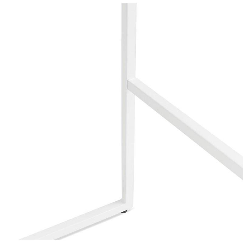 Table haute mange-debout design en bois pieds métal blanc LUCAS (finition naturelle) - image 47063