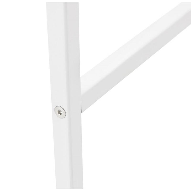 Table haute mange-debout design en bois pieds métal blanc LUCAS (wengé) - image 47071